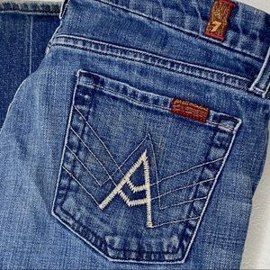 """7 For All Mankind Bootcut """"A"""" Pocket Jeans Size 29"""